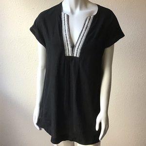 Athleta|| Embroidered Cotton Tunic Top